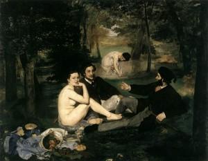 Luncheon on the Grass (Le Déjeuner sur l'herbe) by Manet 1863